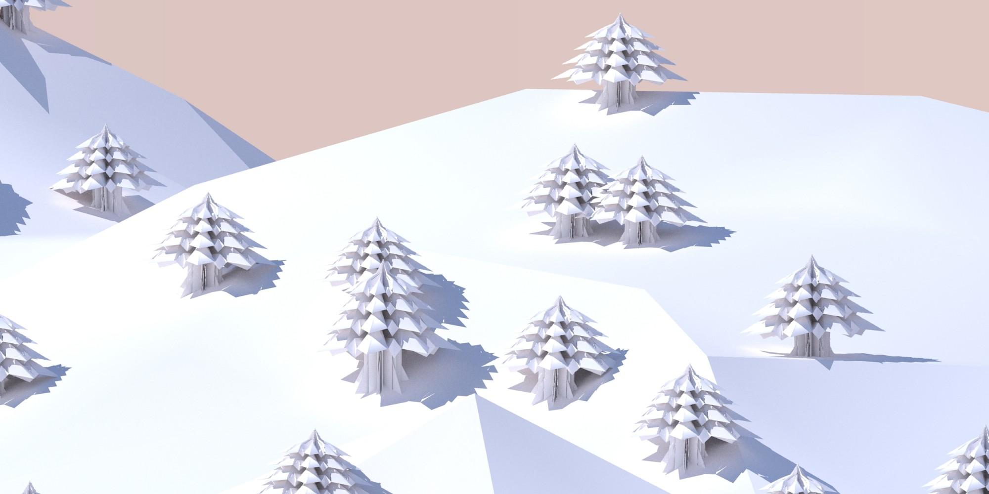 sapins dans la neige 3